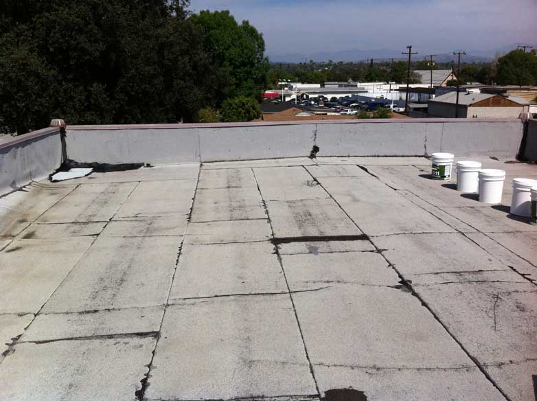 ... Commercial Roofing Client Before White Elastomeric Roof Coating ...